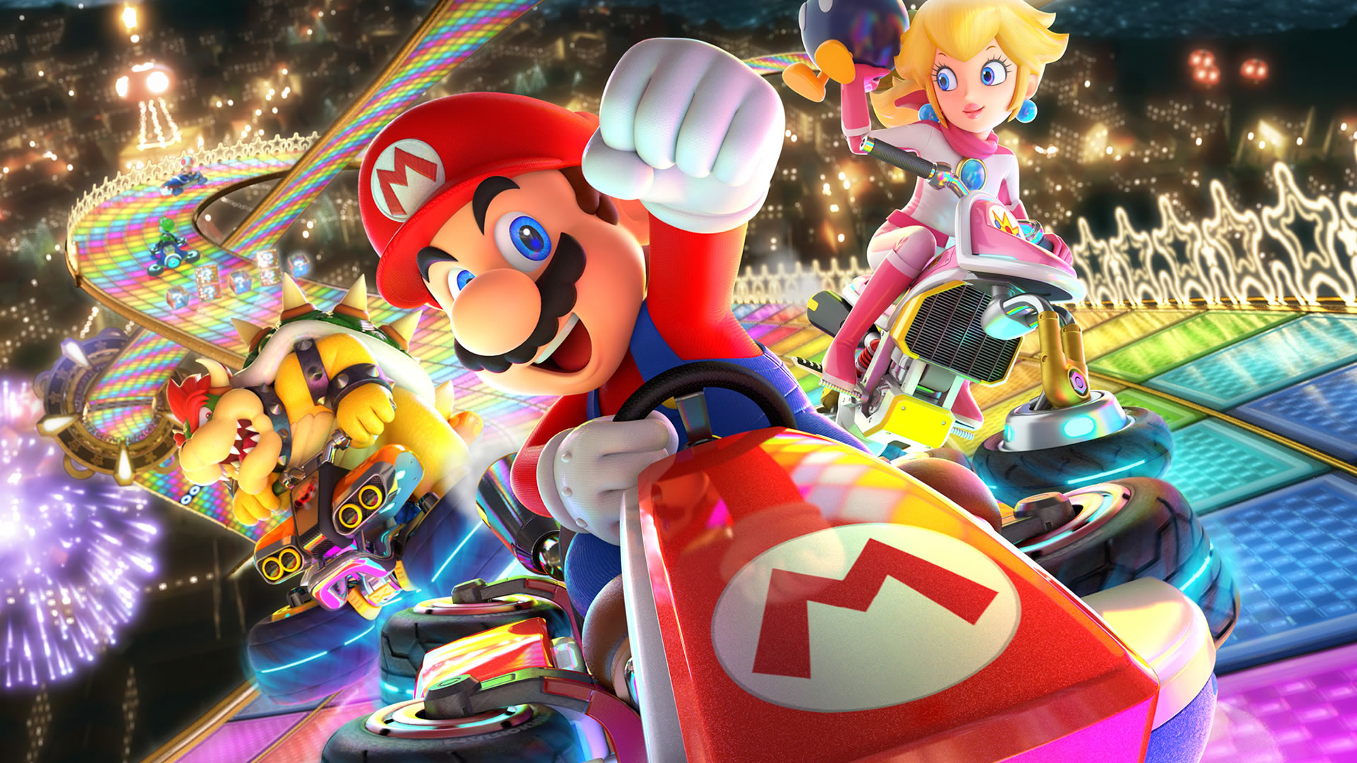 mario kart 8 deluxe recensione nintendo switch. Black Bedroom Furniture Sets. Home Design Ideas