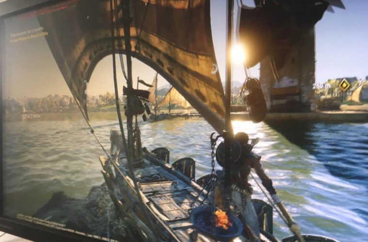 Assassin's Creed: Origins, un'immagine trafugata del gameplay appare su Reddit