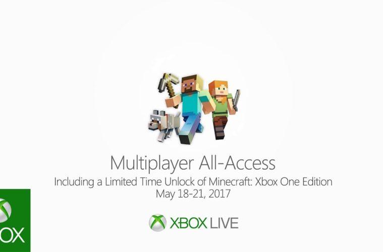Xbox Live multiplayer gratuito e prova per Minecraft nel weekend