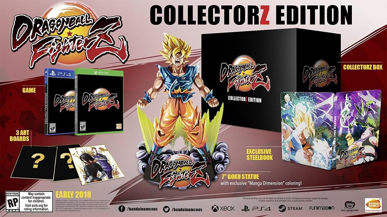 Bandai Namco ci mostra la Collector's Edition di Dragon Ball FighterZ