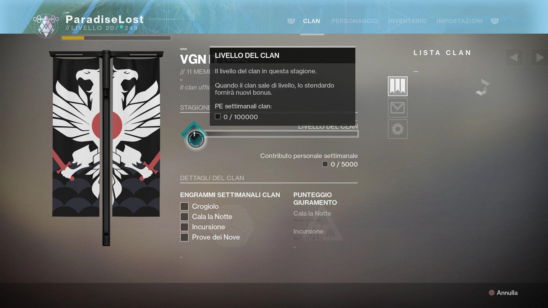 Destiny 2: Clan