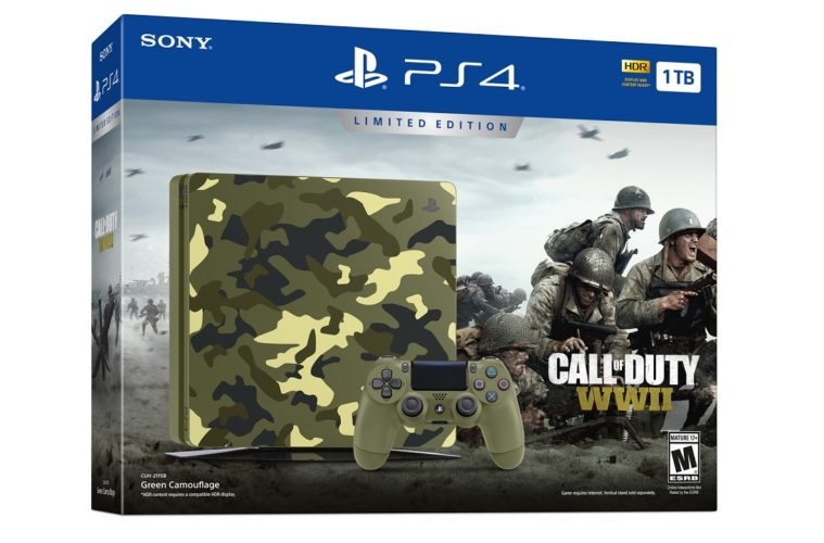 PS4 Slim Bundle- Call of Duty WWII