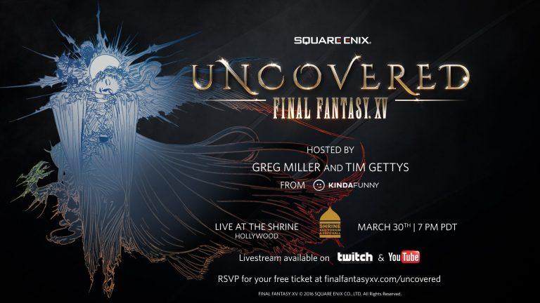 Final Fantasy XV, un evento per annunciare l'esordio