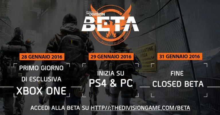 Ufficiale: la beta di The Division arriva a fine gennaio