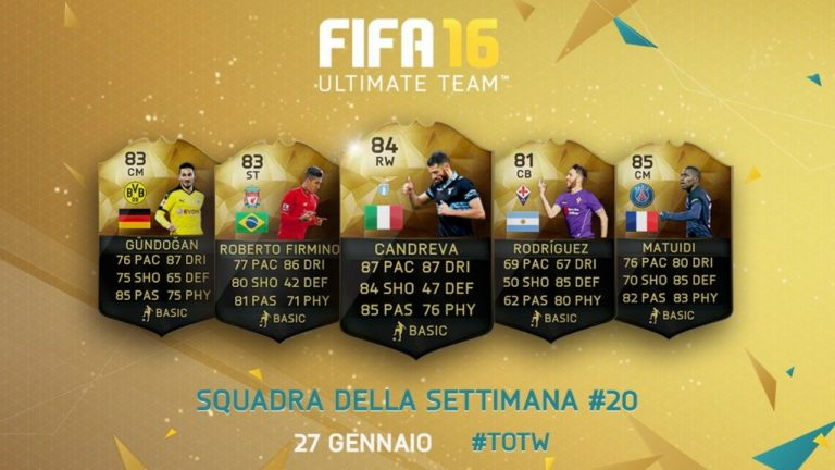 FIFA 16 - Team of the week 20