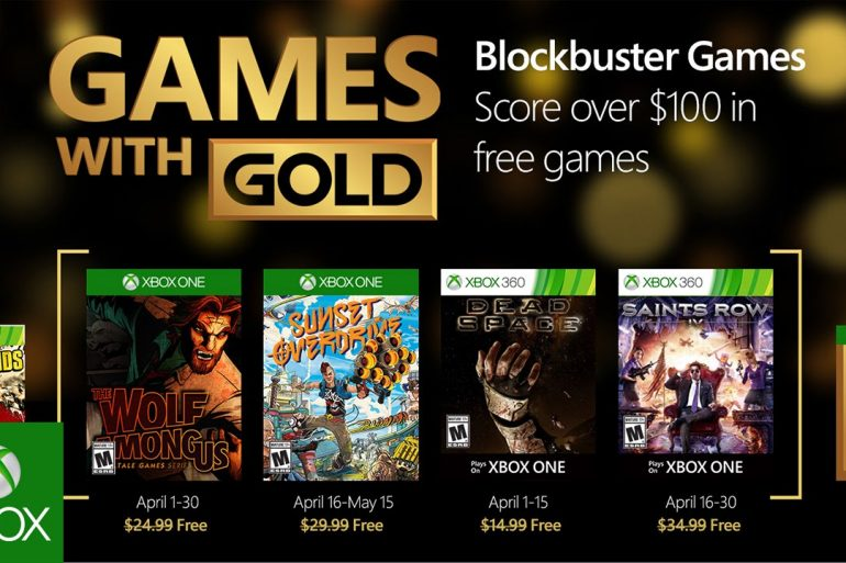 Games with Gold: Aprile 2016