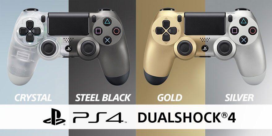 In arrivo i DualShock 4 Crystal e Steel Black