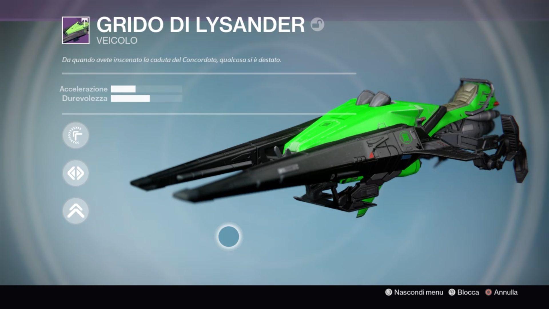 Destiny: Grido di Lysander