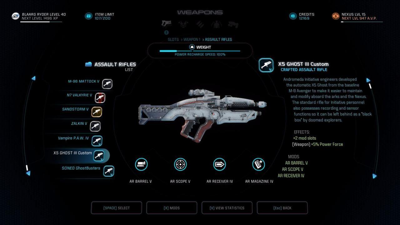 Mass Effect Andromeda X5 Ghost: Il Fucile X5 Ghost è Ora Disponibile In Mass Effect