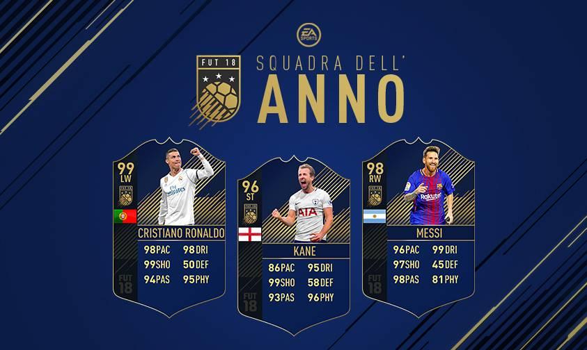 FIFA 18 Ultimate Team: Squadra dell'Anno