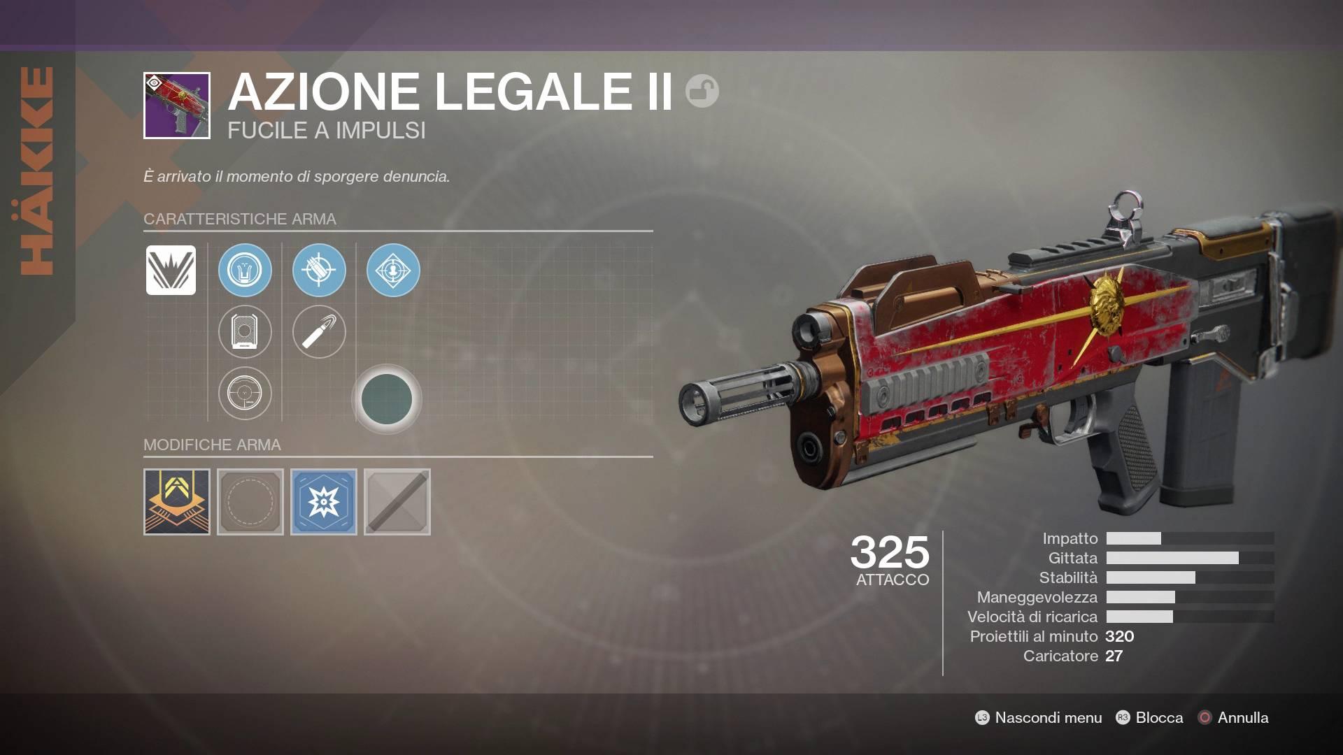 Destiny 2 - Contese di Fazione - Nuova Monarchia - Azione Legale II