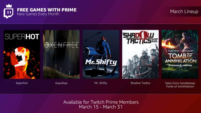 Free Games With Prime - Marzo