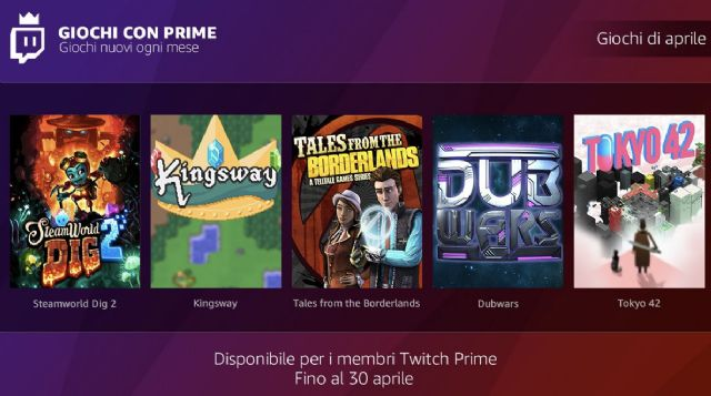 Free Games with Prime aprile