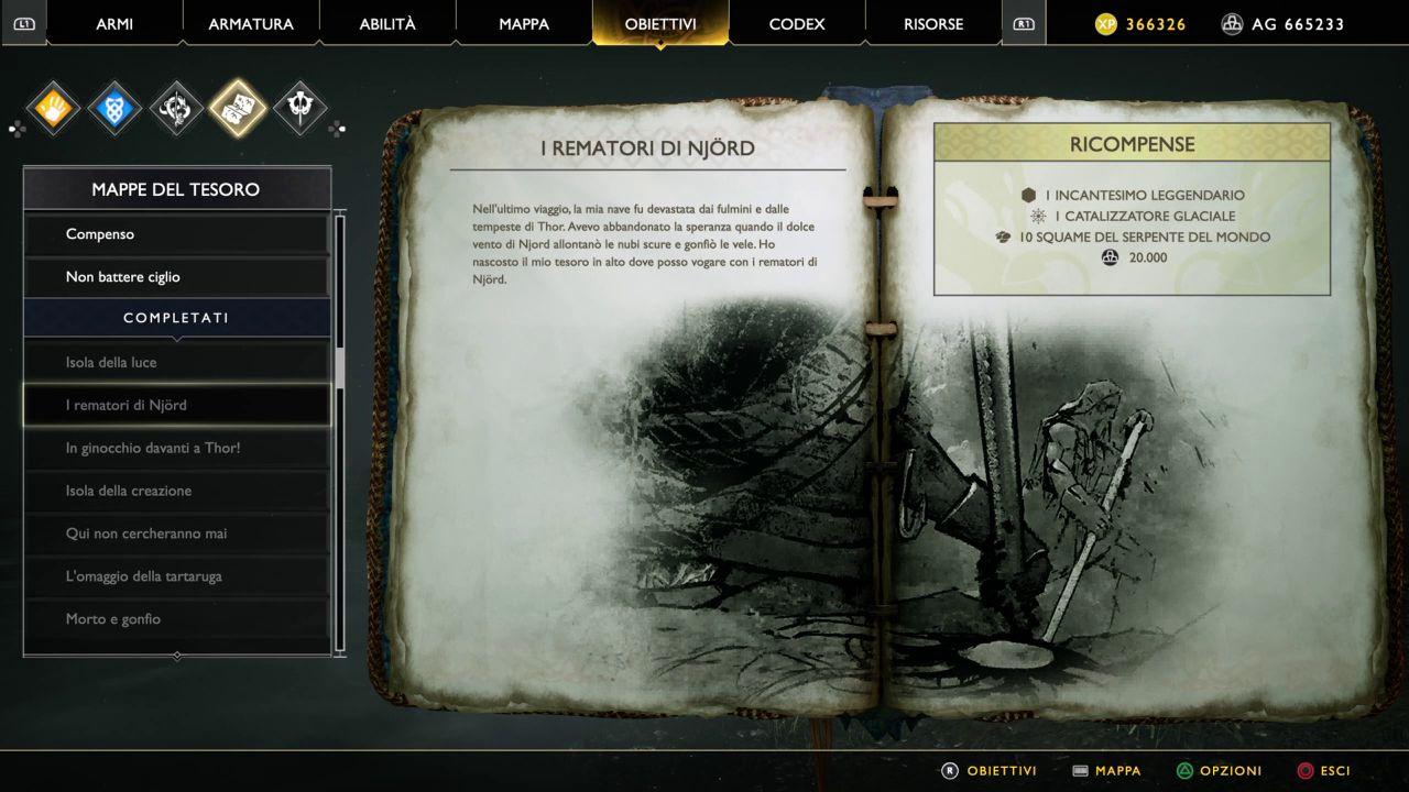 God of War - Mappe del Tesoro - I Rematori di Njord