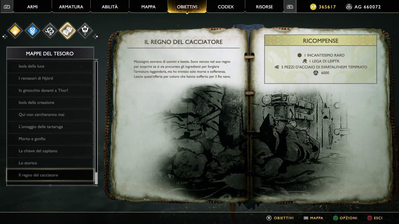 God of War - Mappe del Tesoro - Il Regno del Cacciatore