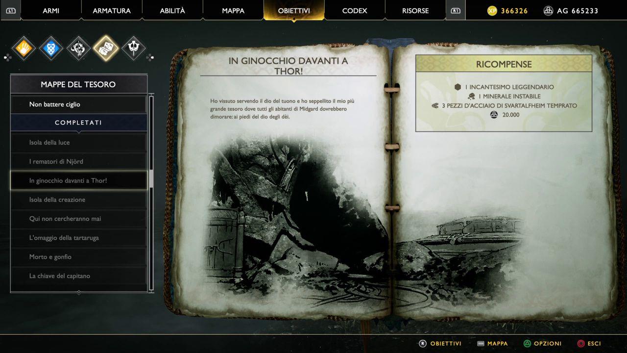God of War - Mappe del Tesoro - In Ginocchio davanti a Thor