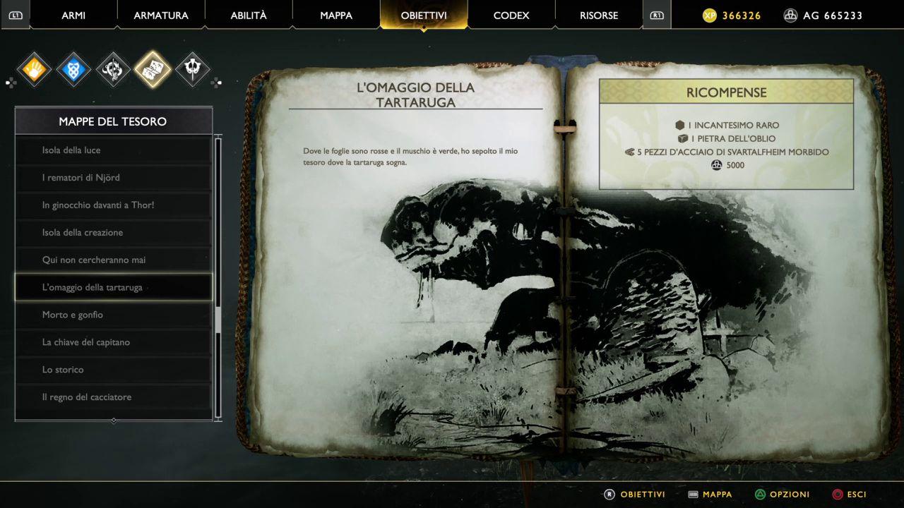 God of War - Mappe del Tesoro - L'omaggio della Tartaruga
