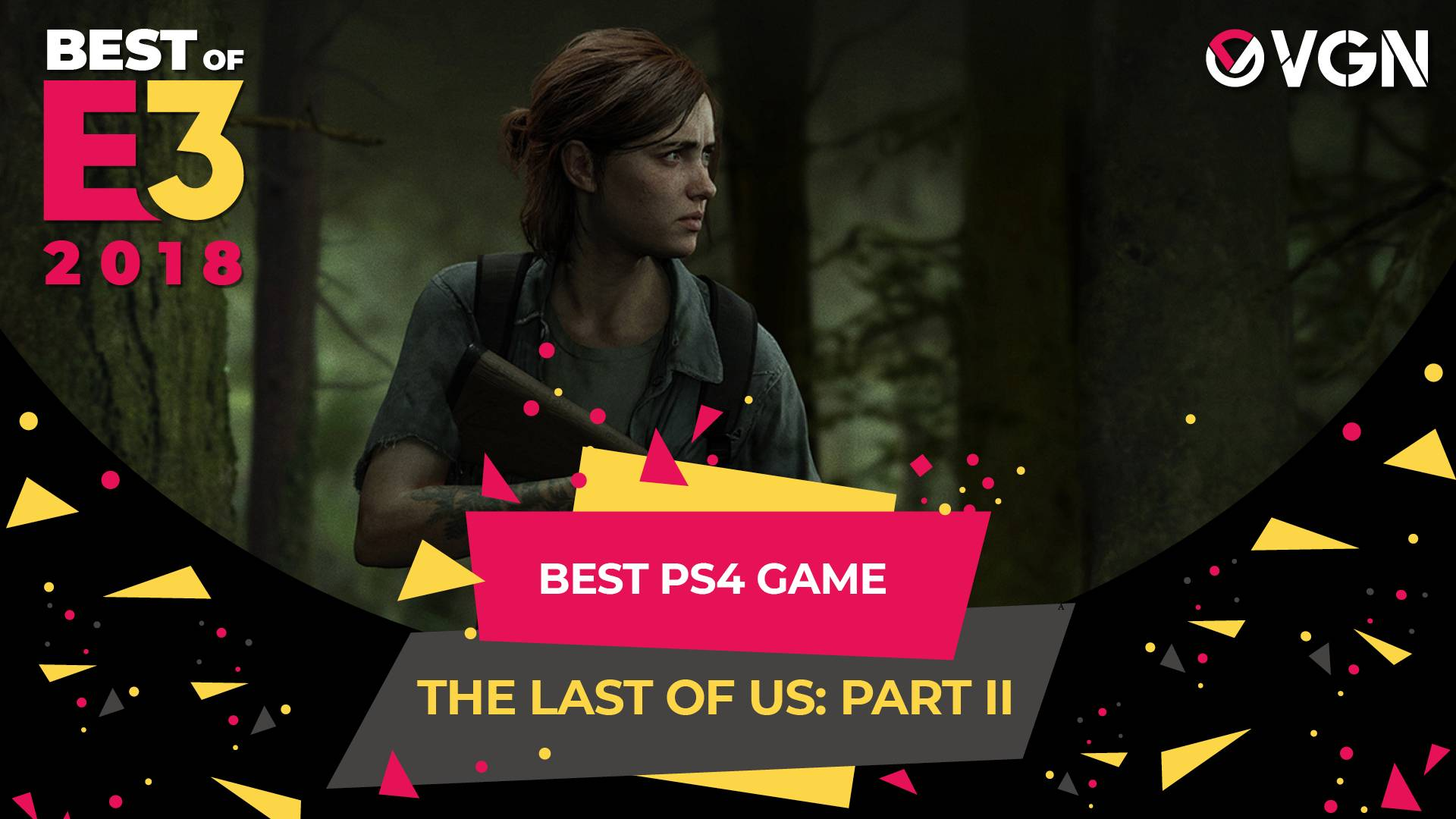 E3 2018 - Best PS4 Game - The Last of Us Part 2