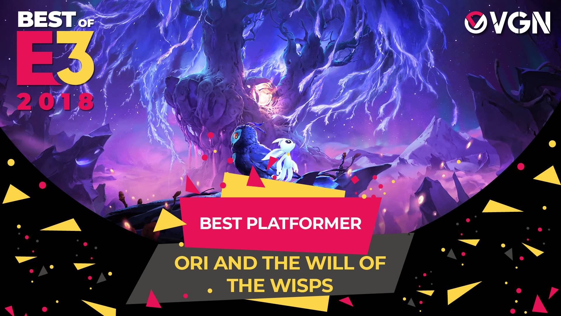 E3 2018 - Best Platformer - Ori and the Will of the Wisps