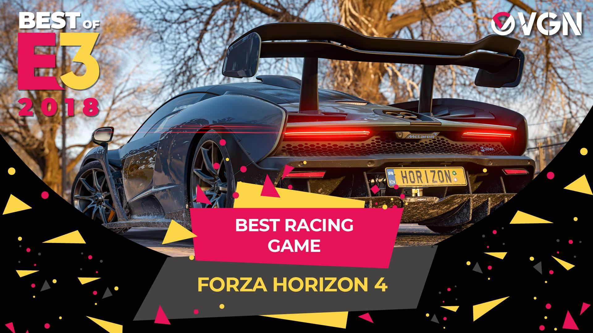 E3 2018 - Best Racing Game - Forza Horizon 4