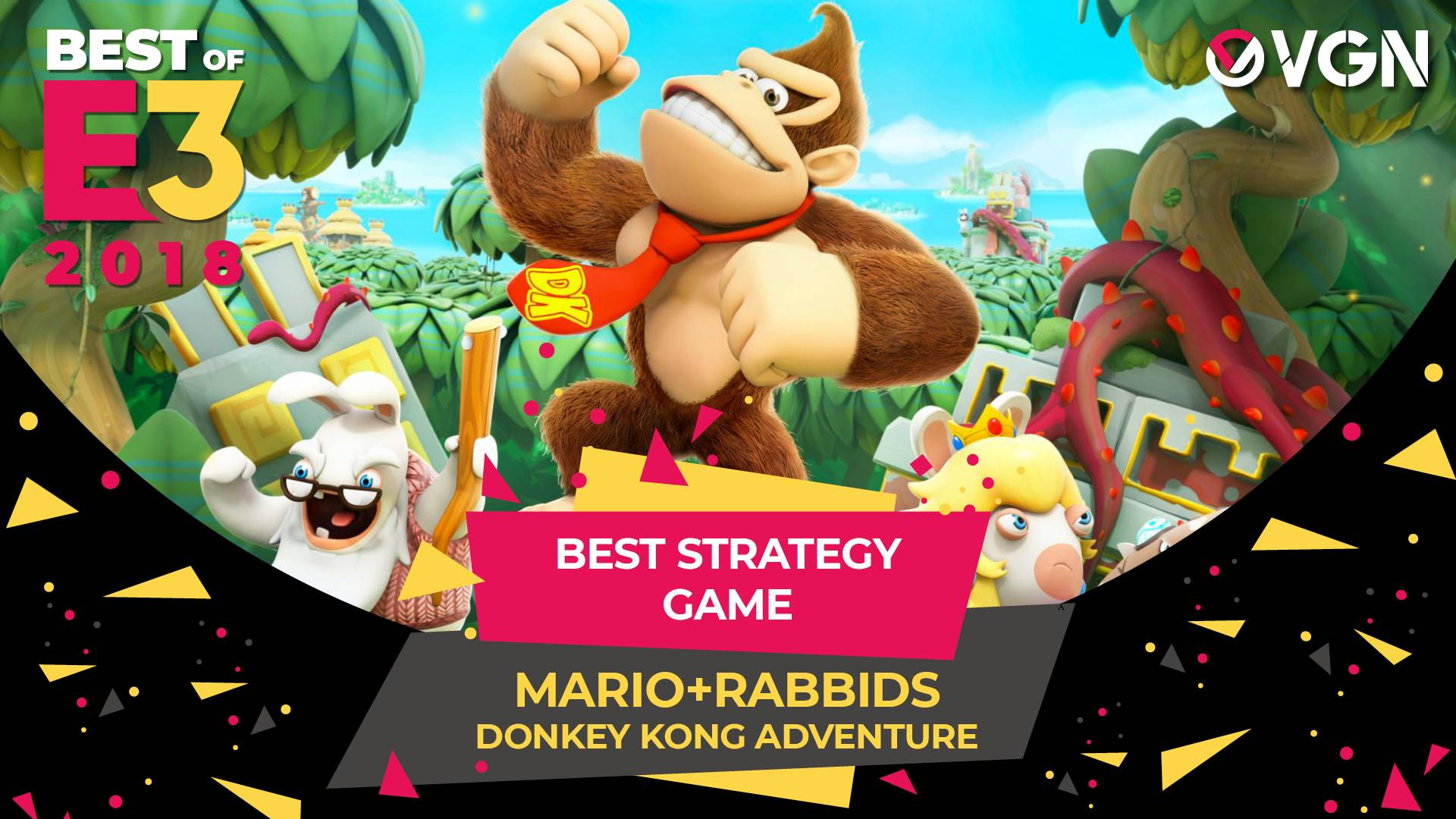 E3 2018 - Best Strategy Game - Mario Rabbids Donkey Kong Adventure