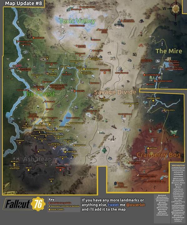 Fallout 76 - Mappa Fan Art