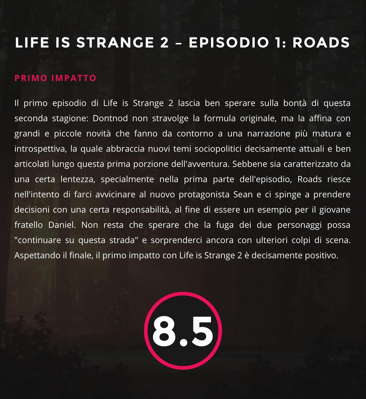 Life is Strange 2 - Primo Impatto