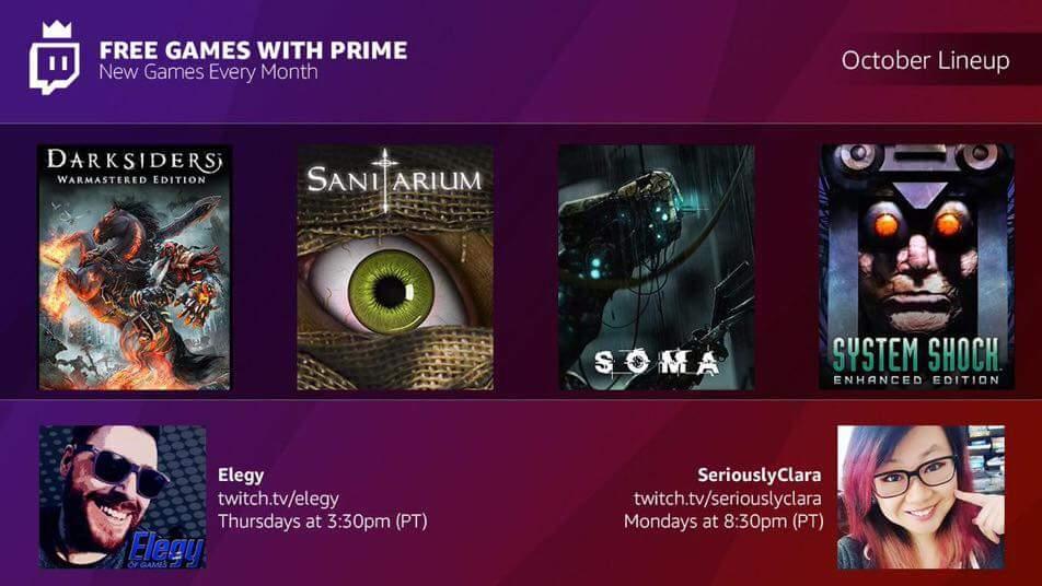Twitch Prime - Ottobre