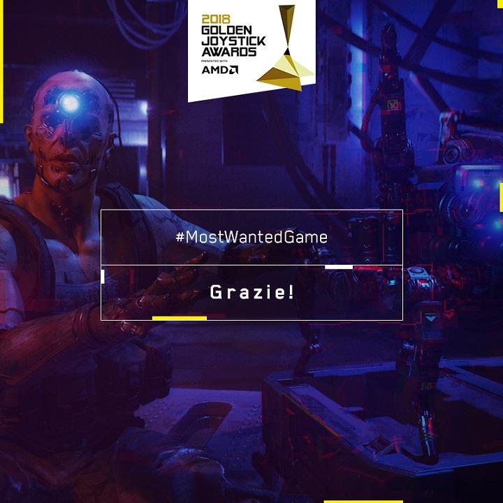 Cyberpunk 2077 - Golden Joystick 2018